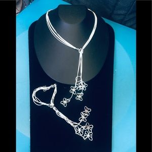 Jewelry - SALE! Silver plated necklace and bracelet set 006